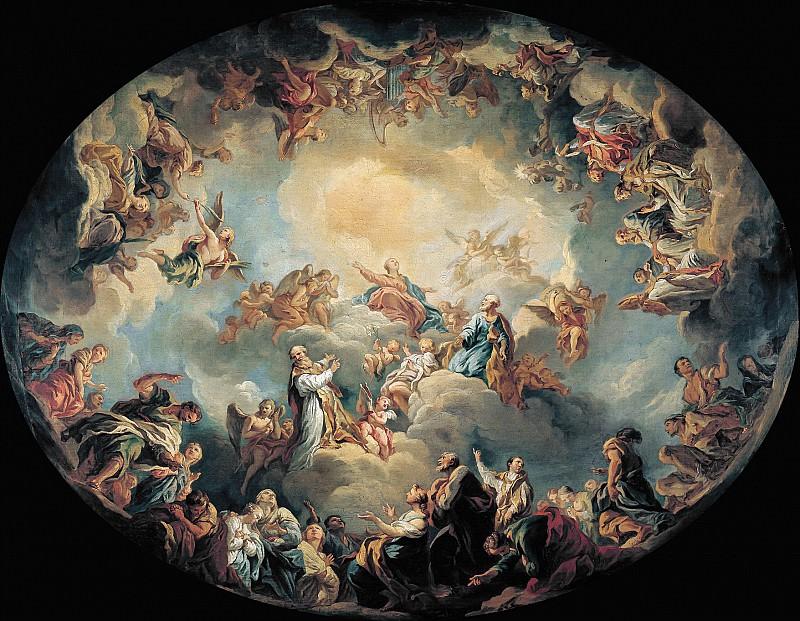 Лемуан, Франсуа (Париж 1688-1737) -- Прославление Девы Марии. Part 6 Louvre