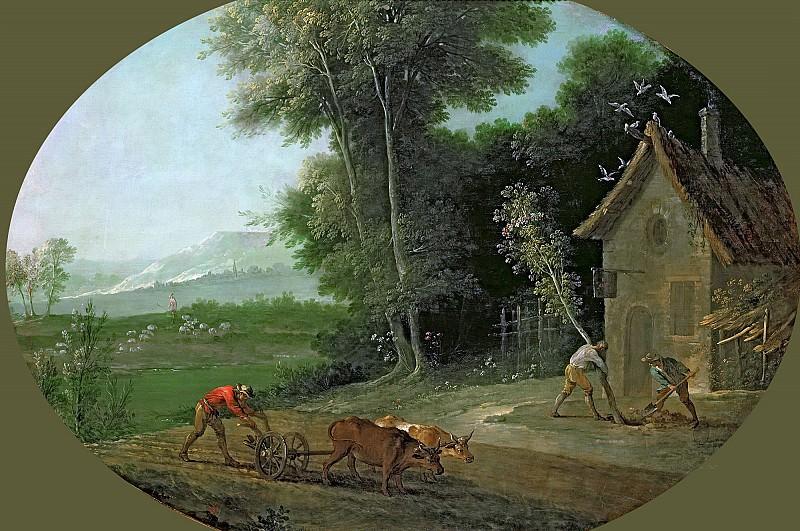 Удри, Жан-Батист (1686 Париж - 1755 Бове) -- Весенний пейзаж. Part 6 Louvre