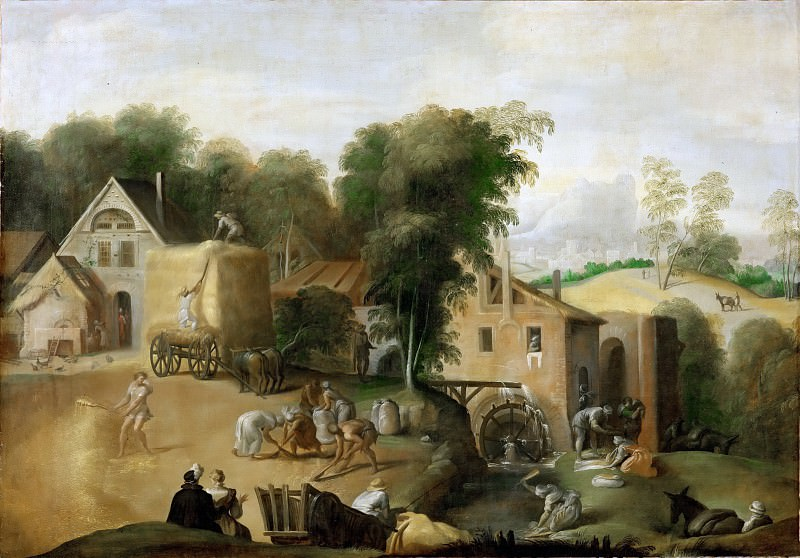 Abate, Nicolo del' -- Le vannage du grain-Separating wheat from chaff. Canvas, 98 x 141 cm R.F.1982-24. Part 6 Louvre