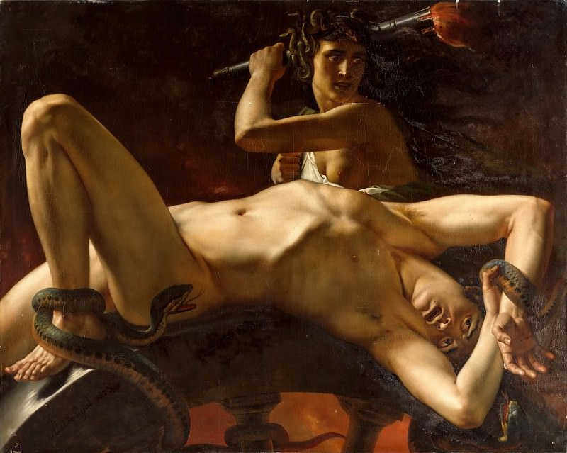 Alexandre Denis Abel de Pujol -- Ixion enchained in Tartarus (Ixion enchainé dans le Tartare). Part 6 Louvre
