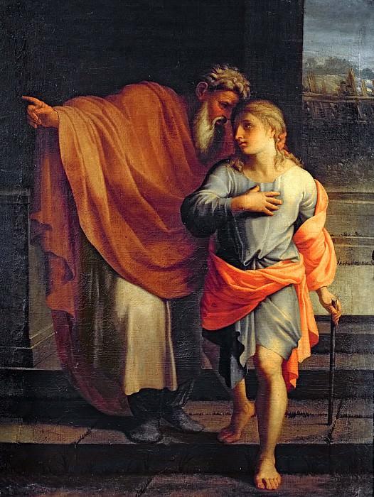 Лесюэр, Эсташ (Париж 1617-1655), мастерская -- Иаков отправляет Иосифа искать своих братьев в Сихеме. Part 6 Louvre