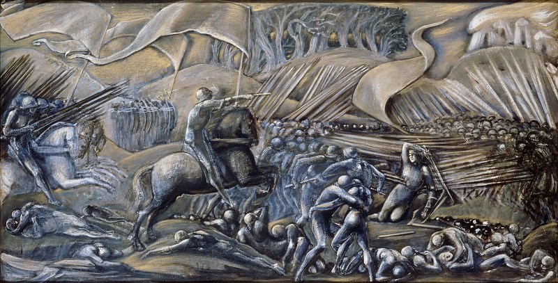 Edward Burne-Jones -- Flodden Field. Part 6 Louvre