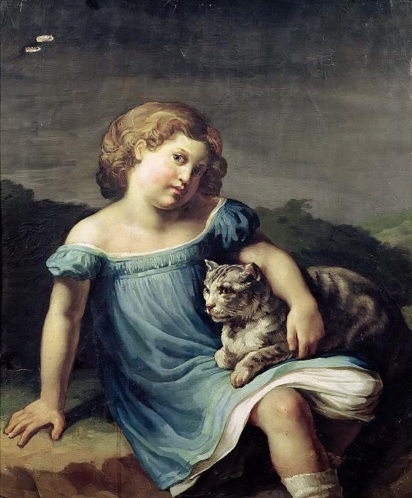 Жерико, Теодор (1791 Руан - 1824 Париж) -- Луиза Верне в детстве. Part 6 Louvre