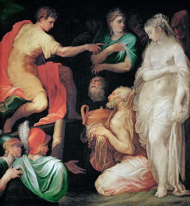 Abate, Nicolo del' -- La continence de Scipio-The continence of Scipio. Canvas, 127, 6 x 115 cm INV. 444. Part 6 Louvre