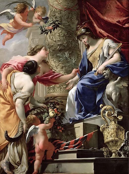 Вуэ, Симон (Париж 1590-1649) -- Благоразумие, ведущее к Миру и Изобилию. Part 6 Louvre