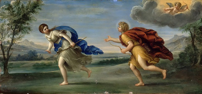 Francesco Albani -- Apollo and Daphne. Part 6 Louvre