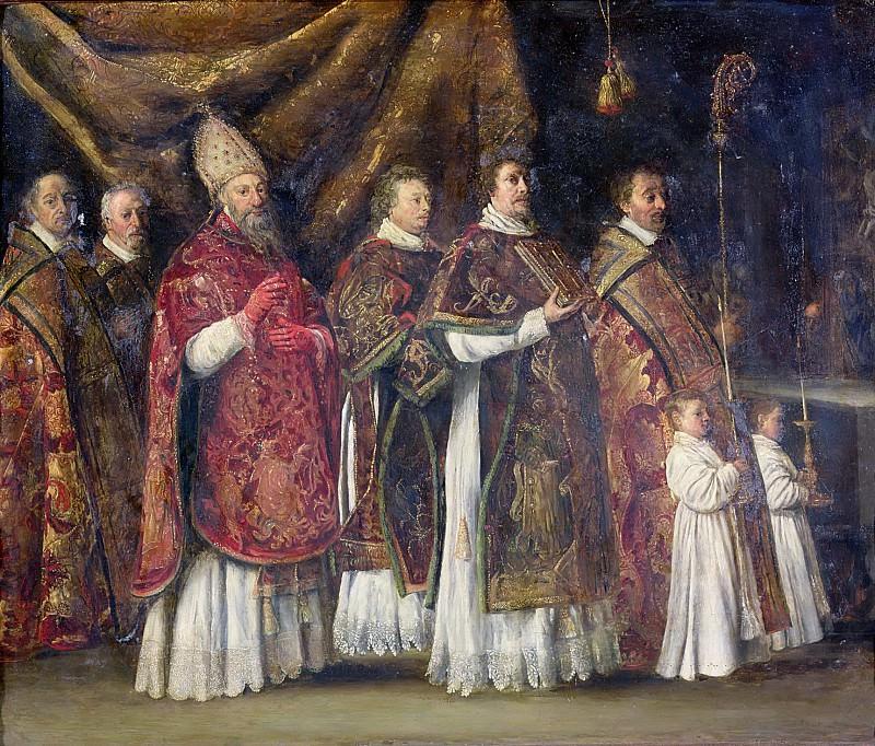 Ленен, братья Антуан (c.1588-1648), Луи (c.1593-1648), Матье (1607-1677) -- Папская месса. Part 6 Louvre