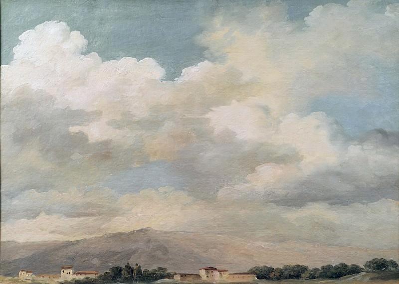 Валансьенн, Пьер-Анри де (1750 Тулуза - 1819 Париж) -- Эскиз облаков над Квириналом. Part 6 Louvre