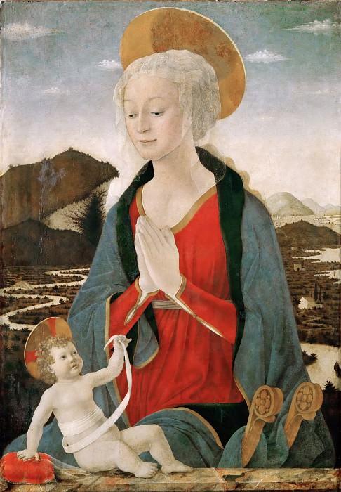 Alessio Baldovinetti (c.1425-1499) -- Madonna and Child. Part 6 Louvre