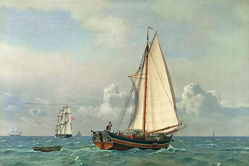 Экерсберг, Кристофер Вильгельм (1783 Блакрог - 1853 Копенгаген) -- Море. часть 6 Лувр