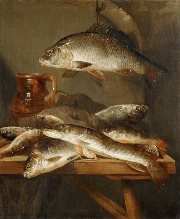 Бейерен, Абрахам Хендрикс ван (1620 Гаага - 1690 Оверсхи) -- Натюрморт с карпом. часть 6 Лувр
