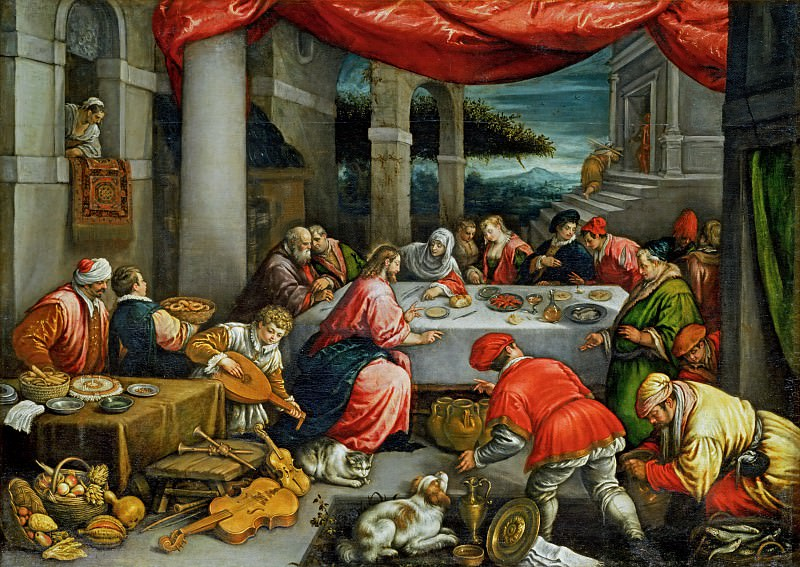 Leandro Bassano (1557-1622) -- Wedding at Cana. Part 6 Louvre