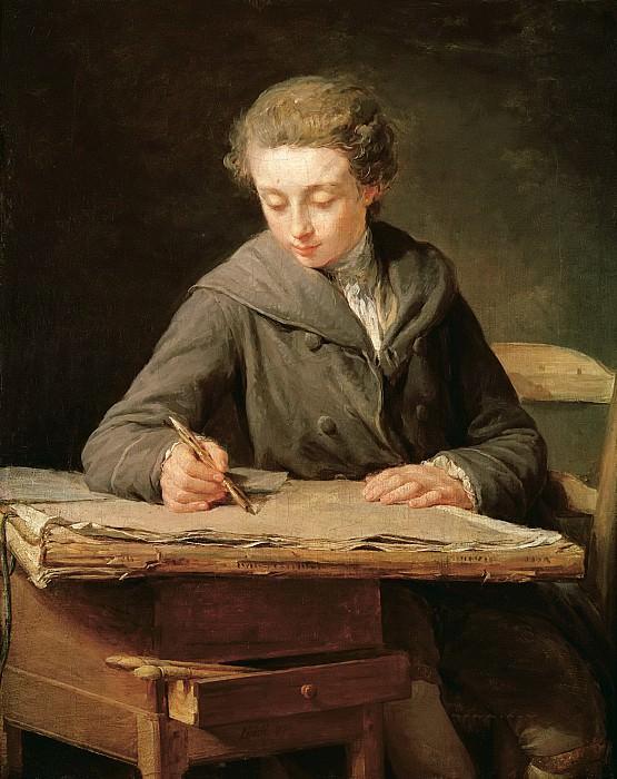 Леписье, Никола-Бернар (Париж 1735-1784) -- Юный рисовальщик (Шарль Верне). Part 6 Louvre