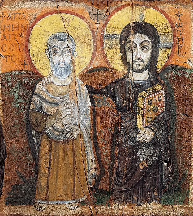 Египет (7 век) -- Христос и аббат Мина. Part 6 Louvre