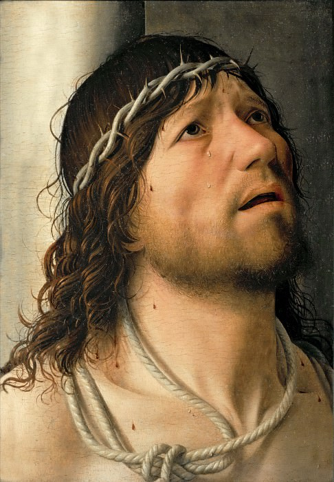 Antonello da Messina (c. 1430-1479) -- Christ at the Flagellation. Part 6 Louvre
