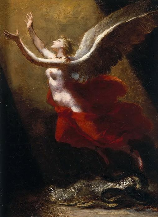 Прюдон, Пьер-Поль (1758 Клюни - 1823 Париж) -- Душа, возносящаяся к небу. Part 6 Louvre