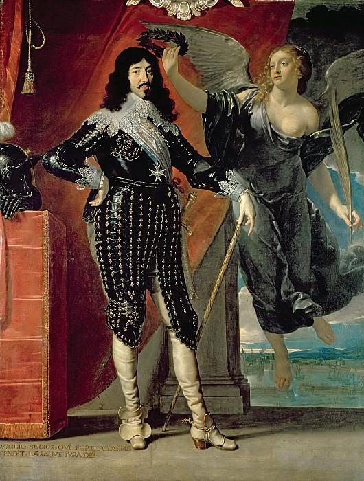Шампень, Филипп де (1602 Брюссель - 1674 Париж) -- Людовик XIII, коронуемый Викторией. Part 6 Louvre