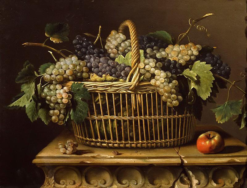 Дюпюи, Пьер (1610 Монфор-Амори - 1682 Париж) -- Корзина с виноградом. Part 6 Louvre