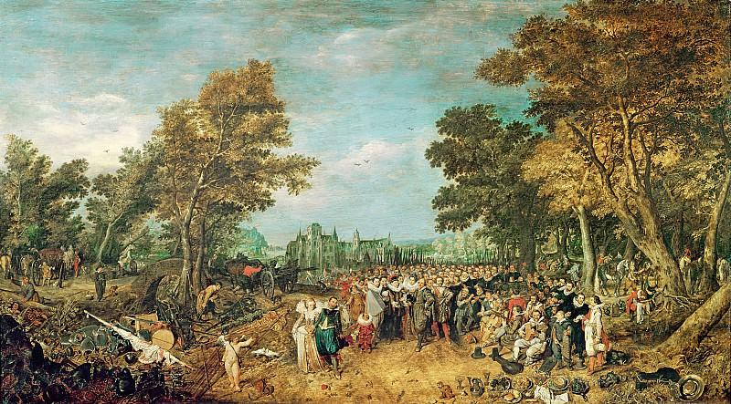 Венне, Адриан Питерс ван де (1589 Делфт - 1662 Гаага) -- Аллегория перемирия между Нидерландами и Испанией в 1609 году. Part 6 Louvre