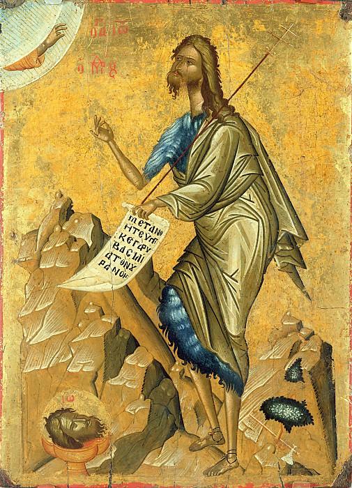 Критская школа (16 век) -- Иоанн Креститель. Part 6 Louvre