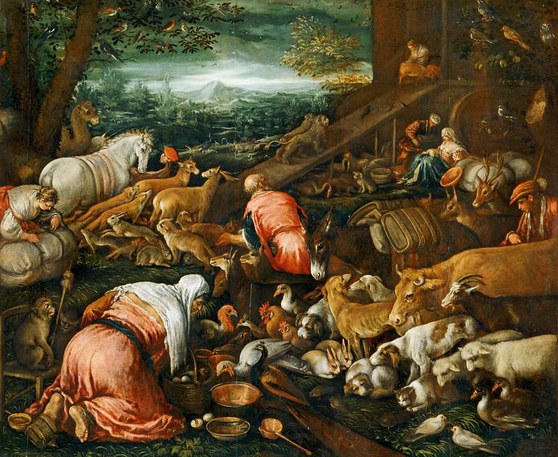 Jacopo Bassano il Vecchio (c.1510-1592) -- Animals Entering Noah's Ark. Part 6 Louvre