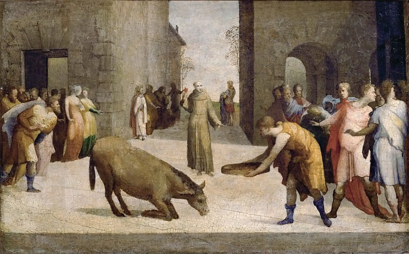 Domenico Beccafumi (1486-1551) -- Saint Anthony of Padua and the Miracle of the Mule. Part 6 Louvre