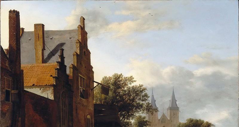 Jan van der Heyden, figures by Adriaen van de Velde -- Saint Victor's Cathedral and Square in Xanten (Germany). Part 6 Louvre