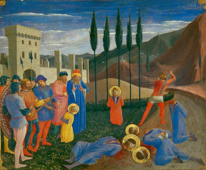 Fra Angelico (c. 1400-1455) -- Martyrdom of Saints Cosmas and Damian. Part 6 Louvre