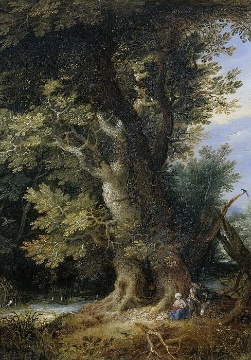 Brueghel, Jan (I) -- Rust op de vlucht naar Egypte., 1600-1699. Rijksmuseum: part 1
