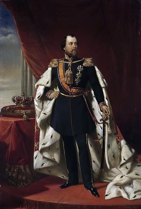 Pieneman, Nicolaas -- Willem III (1817-90), koning der Nederlanden, 1856. Rijksmuseum: part 1
