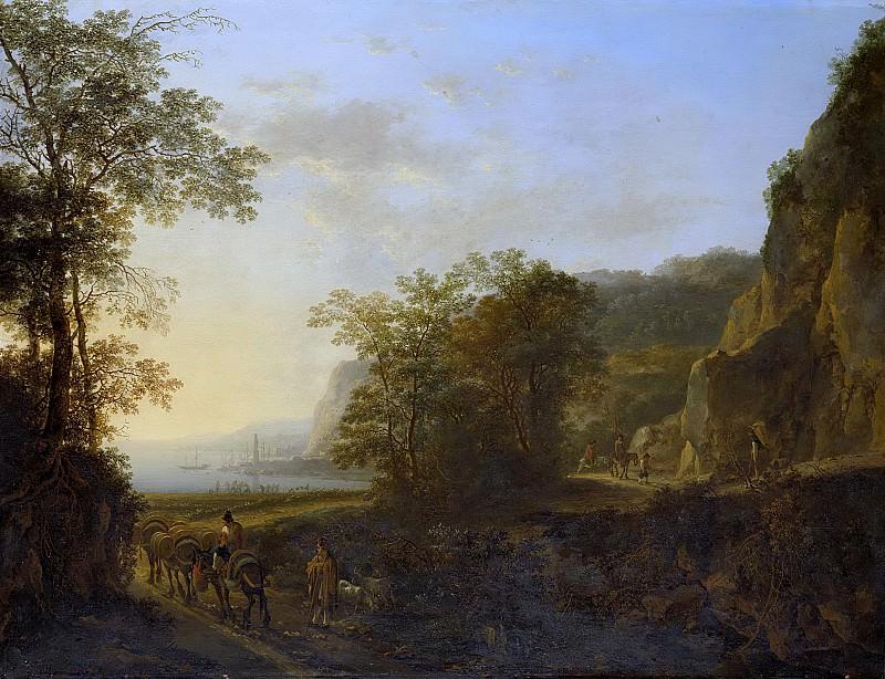 Both, Jan -- Italiaans landschap met gezicht op een haven., 1640-1652. Rijksmuseum: part 1