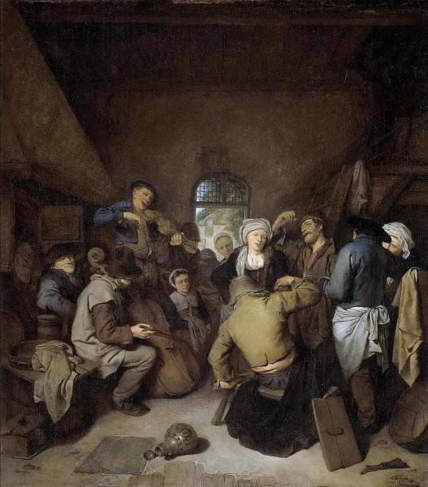 Bega, Cornelis Pietersz. -- Musicerende en dansende boeren., 1650-1664. Rijksmuseum: part 1