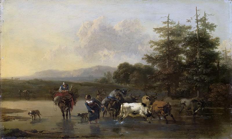 Николас Питерс Берхем - Страсть быка, 1656. Рейксмузеум: часть 1
