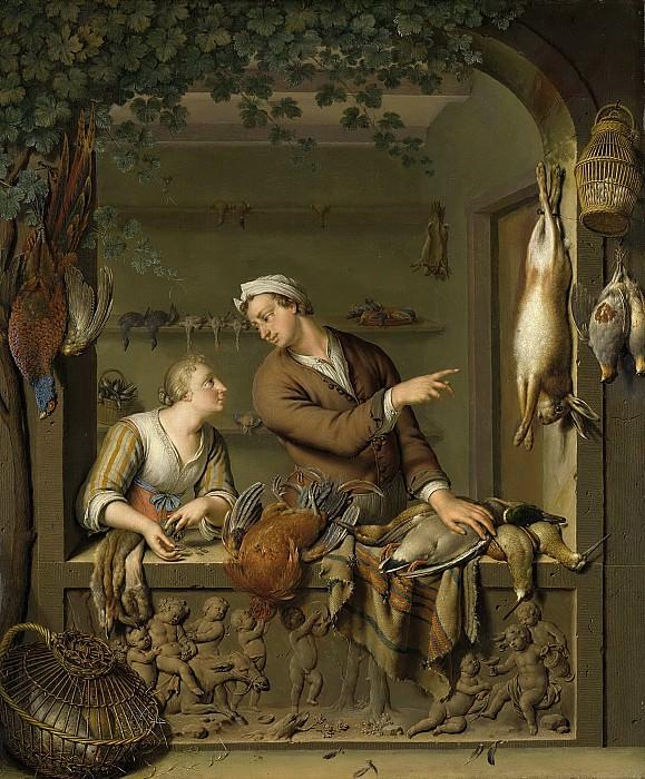 Mieris, Willem van -- De poelier, 1733. Rijksmuseum: part 1
