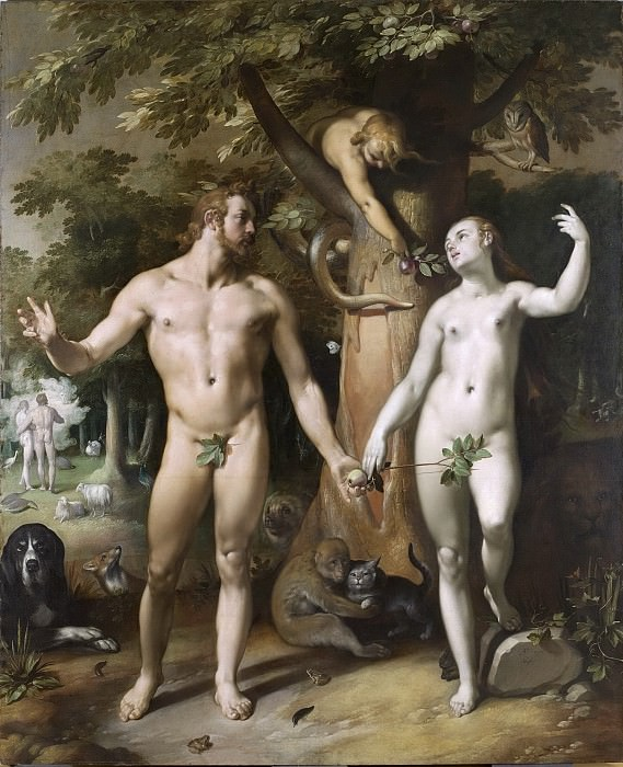 Cornelisz. van Haarlem, Cornelis -- De zondeval, 1592. Rijksmuseum: part 1