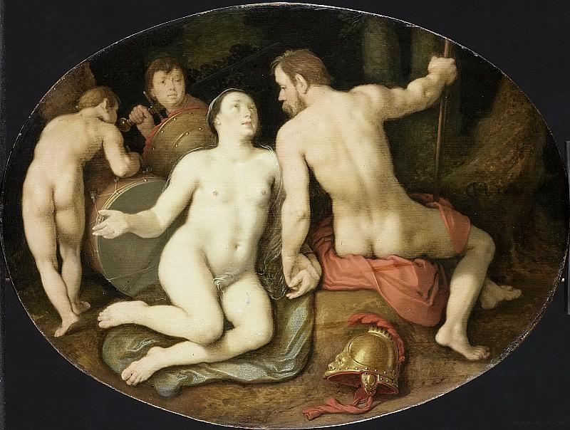 Cornelisz. van Haarlem, Cornelis -- Venus en Mars, 1628. Rijksmuseum: part 1
