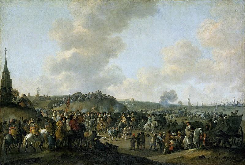 Meijer, Hendrick de -- Het vertrek van Karel II van Engeland uit Scheveningen, 2 juni 1660, 1660-1683. Rijksmuseum: part 1