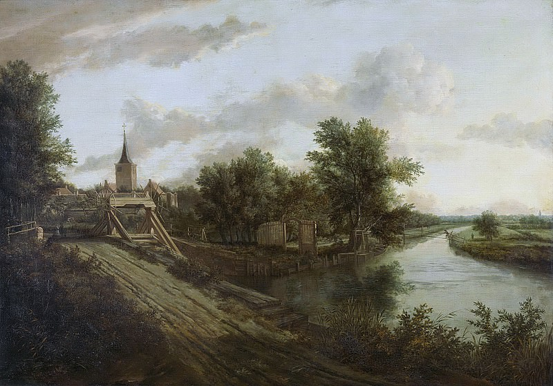 Unknown artist -- Landschap met overtoom, 1660. Rijksmuseum: part 1