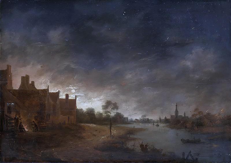Neer, Aert van der -- Riviergezicht bij maanlicht, 1630 - 1700. Rijksmuseum: part 1