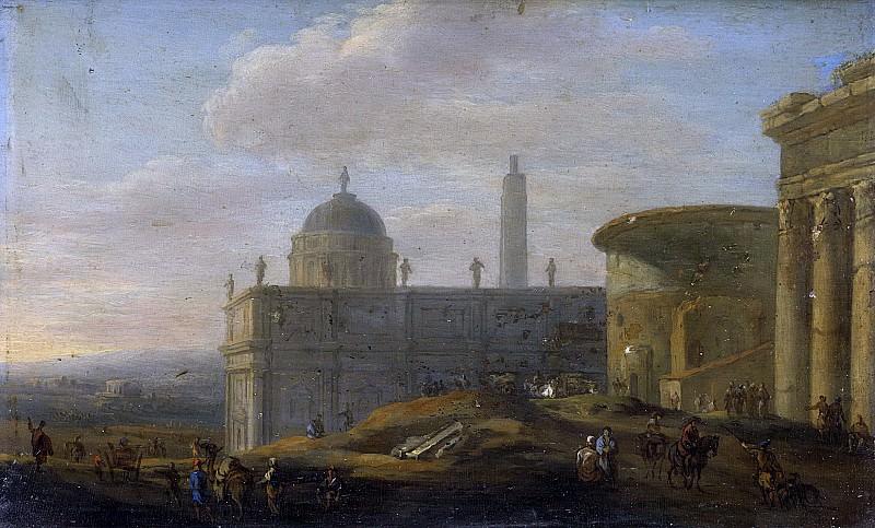 Ulft, Jacob van der -- Italiaans stadsgezicht, 1650 - 1689. Rijksmuseum: part 1