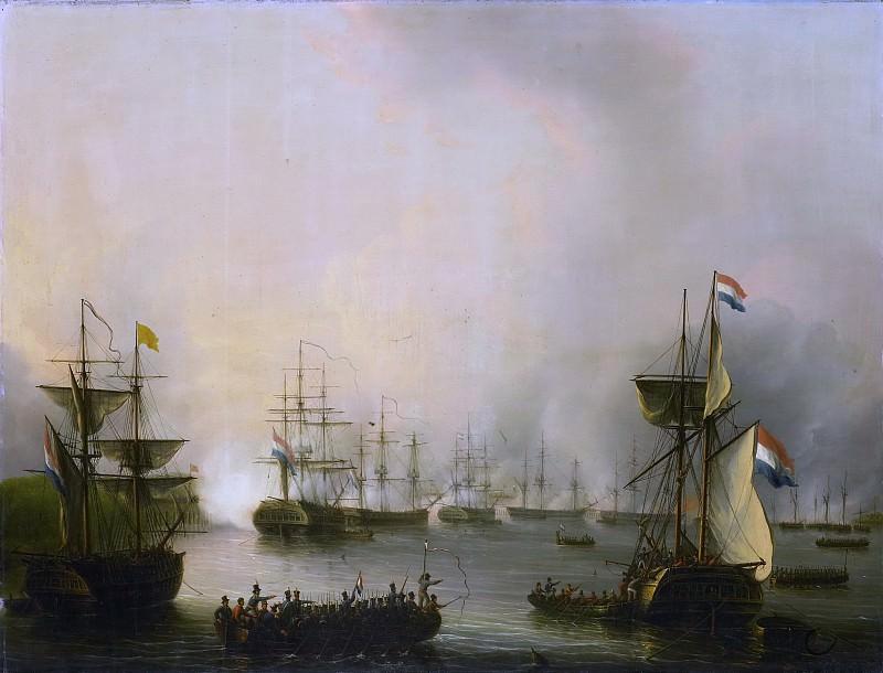 Schouman, Martinus -- De beschieting van Palembang, Sumatra, 24 juni 1821, 1821 - 1848. Rijksmuseum: part 1
