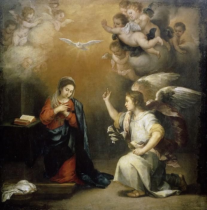 Мурильо, Бартоломе Эстебан -- Благая весть для Марии, 1660-1680. Рейксмузеум: часть 1