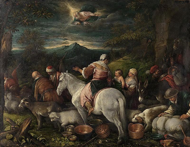 Bassano, Francesco (il Giovane) -- Abraham vertrekt uit Haran, 1560 - 1592. Rijksmuseum: part 1
