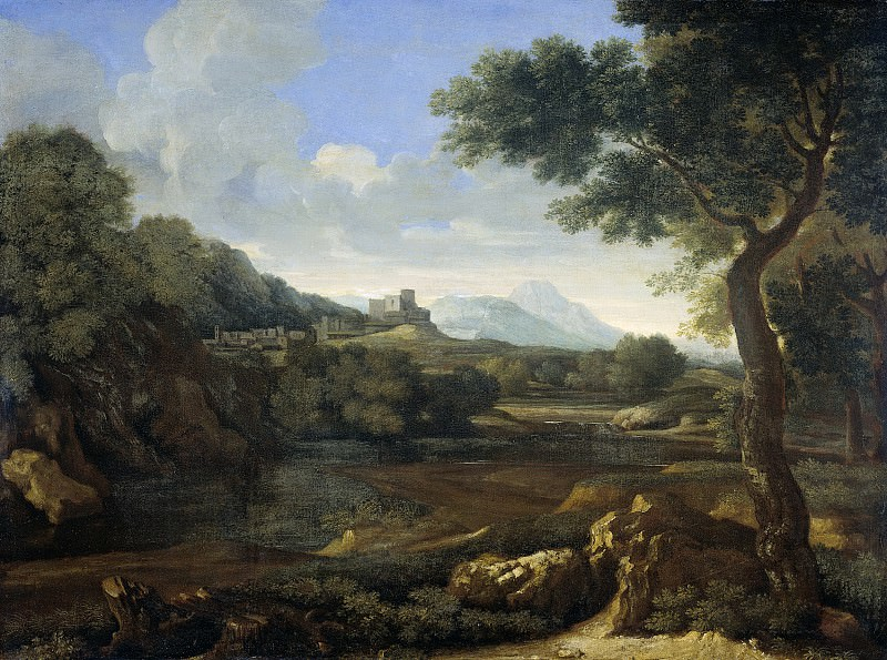 Dughet, Gaspard -- Landschap, 1640-1645. Rijksmuseum: part 1
