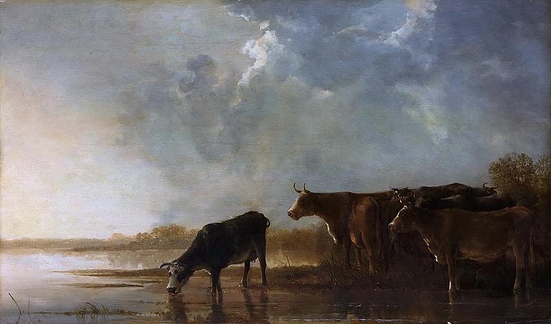 Cuyp, Aelbert -- Rivierlandschap met koeien, 1640 - 1650. Rijksmuseum: part 1