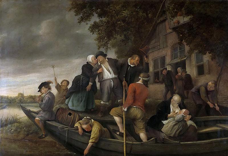 Steen, Jan Havicksz. -- Het vrolijk huiswaartskeren, 1670-1679. Rijksmuseum: part 1