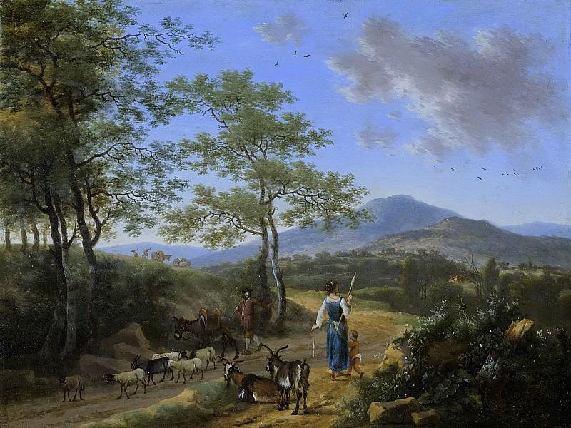 Heusch, Willem de -- Italiaans landschap met herders, 1650-1692. Rijksmuseum: part 1