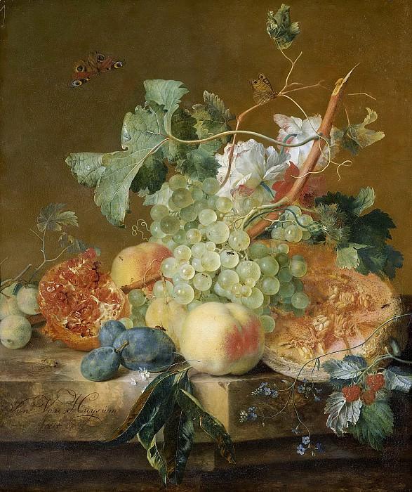 Ян ван Хейсум -- Натюрморт с фруктами, 1700-1749. Рейксмузеум: часть 1
