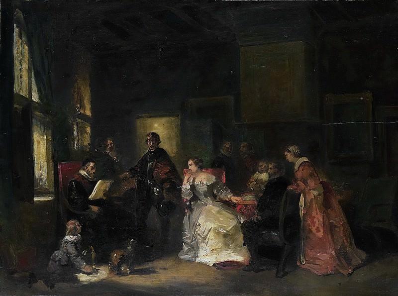 Николас Пинеман -- Историческая сцена с Виллемом де Звейгером, 1830 - 1860. Рейксмузеум: часть 1