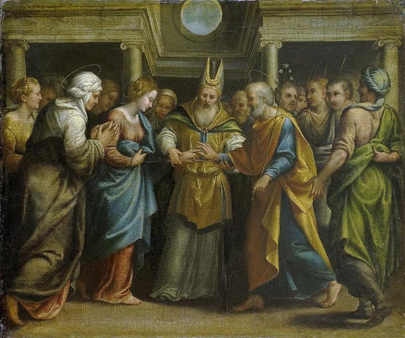 Unknown artist -- Het huwelijk van Maria met Jozef, 1525-1549. Rijksmuseum: part 1